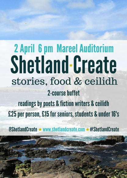 Shetland Create Night A3 Poster